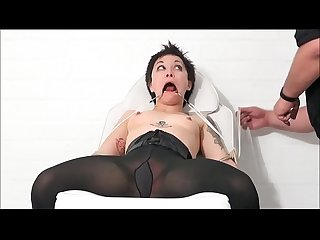 Medical fetish and humiliation of tied asian patient mei mara in doctors bdsm an