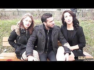 Angelique sodomise dans un trio hard avec nora