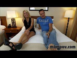 Big tit blonde milf taking two cocks