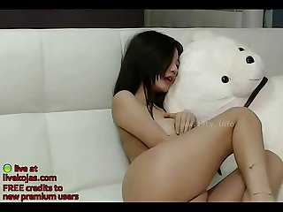 Asian model shows her big tits live at livekojas com