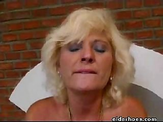 Mature MILF sexy blond woman in hardcore sex action