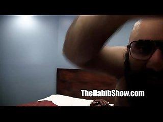 Amateur hairy Arab fucks thick black booty p3