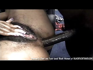 Perky Tit Young Hairy Bush Black Girl Loves A Hard Anal Fuck From Massive Dick