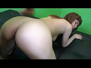 TATTOED COCK HUNGRY SLUT WITH SMALL NATURAL BOOBS JUMPS ON BLACK ROD