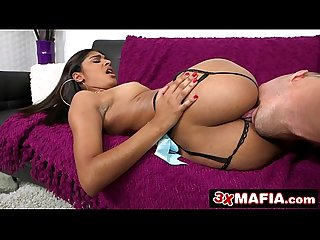 Hot dominican amateur chick katalina mills takes hard pounding on a couch