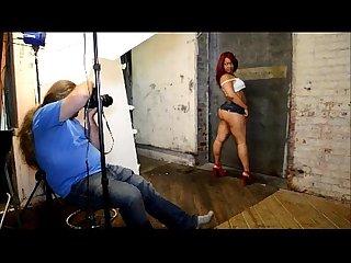 Sexy photoshoot with vixen vanity
