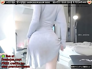 Korean bj neat in white live at livekojas com