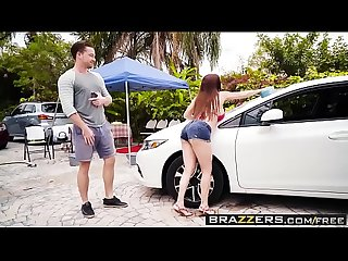 Mommy Got Boobs - Mamas Car Wash scene starring Diamond Foxxx and Kyle Mason