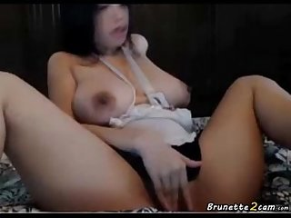 Busty asian masturbating