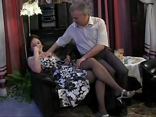 russian dad and daughter taboo family old young sex in stockings