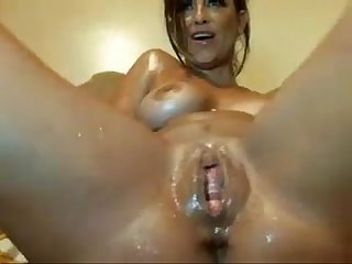 Brazilian milf masturbates until she squirts taken from www mysluttycams com