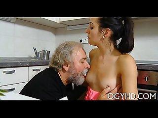 Old nasty dude bonks young hole