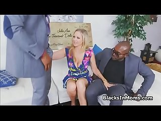 MILF wins cash and big black cocks