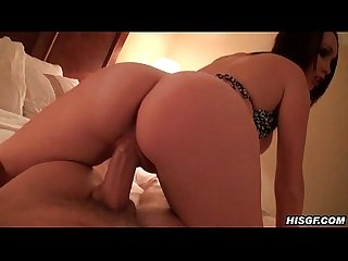 Amateur bedroom sex and a sloppy cumshot