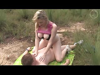 Couple fucks outdoors