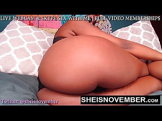 Big booty webcam model slut msnovember pounding her pussy hard orgasm cam model