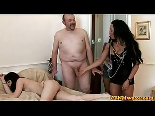 Euro cfnm matures giving cumshower