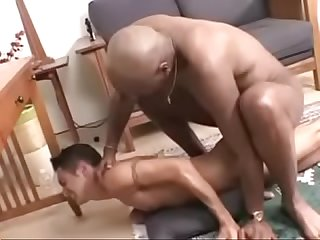 Big black cock barebacks skinny latino