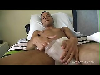 Twink Aaron Armstrong Beats Off With Toy