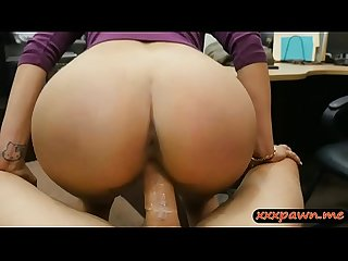 Curvy woman nailed by horny pawn keeper at the pawnshop