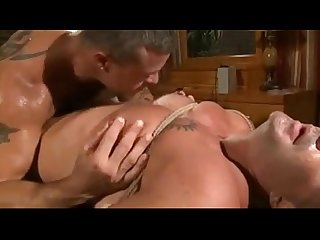 Bound muscled guy gets fucked