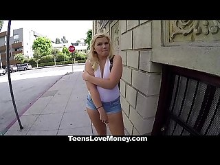 Teenslovemoney model wannabe fucked hard for cash