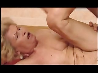 Sexy granny fucked by her young grandson