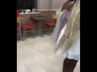 Ghetto black bitches stripping and fighting in public