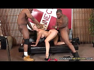 Cherie Deville Gets Black Cocks To Play With