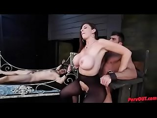 pawg milf dominates 2 men