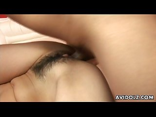 Asian brunette doggy style nailed up hard as fuck