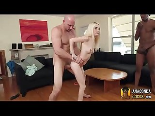 White bitch makes love to black monster cocks