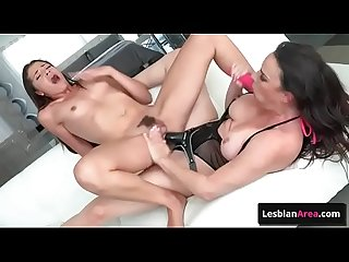 Horny lesbian sluts Dana De Armond & Avi Love enjoy deep ass toy fuck and nasty pussy fingering