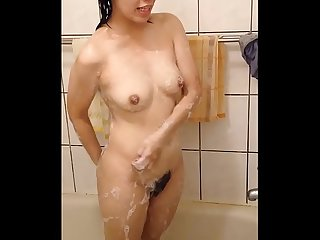 Hidden spy cam in dormitory bathroom hot asian woman