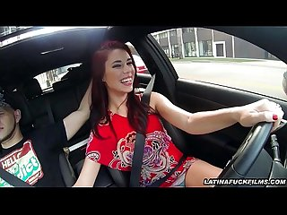 Latina Strokes And Blows While Driving