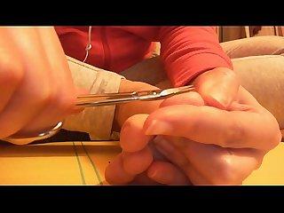 Bellissimi piedi smaltati per questo video fetish