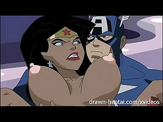 Superhero hentai wonder woman vs captain america