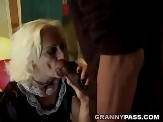 Granny Sucks Big Black Cock