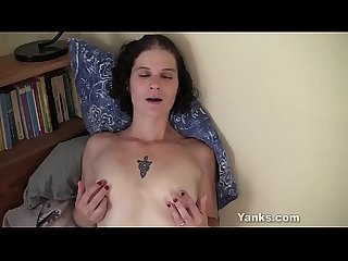 Yanks MILF Sunshine Plays With Her Erect Nipples