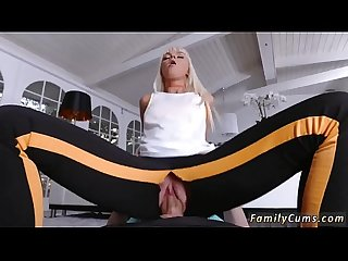 Mom and associate's daughter gagging Stretching Your Stepmom