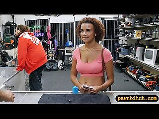 Curvy busty ebony smashed by pawn dude in his pawnshop