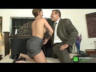 German Deutsche office mature milf secretary facesitting on here boss - lick my pussy boss with..
