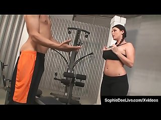 Hot uk big boobed sophie dee banged by big black cock at gym