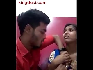 Desi lovers smooch gf s boobs sucked in juice bar wid audio
