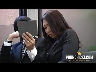JAV Secretary fucked by her older boss - More at PornChicki.com