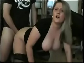 Sexy wife wants milk on her big ass