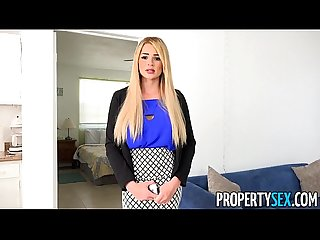 Propertysex vacation rental mishap turns into hot sex with busty agent