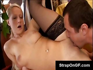 Beautiful blonde slut lilith gets her juicy pussy pounded by her boyfriend