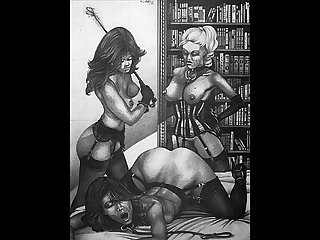 Classic erotic bondage artwork