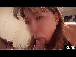 Amateur wife whose husband is on a business trip 18 -Blowjob on her husband's bed-